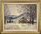 "Robert Emmett Owen ""On the Mohawk Trail"" Winter Impressionist Landscape Signed"