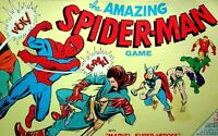 VINTAGE 1967 THE AMAZING SPIDERMAN BOARD GAME MARVEL SUPER HEROES HULK THOR