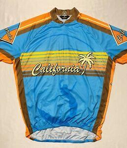 Canari San Diego California 1/2 Zip Men's Cycling Jersey Size XXL