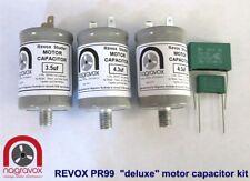 """Revox Pr99 """"deluxe"""" Motor Capacitor Set for Revox Pr99"""