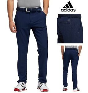 New ADIDAS Mens Ultimate Golf Trousers Pants - Tapered Fit - Navy Blue - 36w 34l