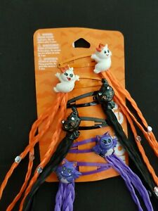 New Claire's Halloween Women's Girl's 6 piece Hair Clips With Colored Hairs