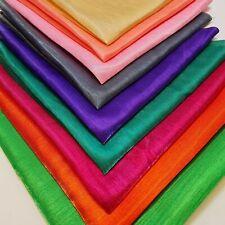 Bright Plain Colours Faux Dupion Raw Silk Fat Quarter Fabric Bundle of 9 50x50cm