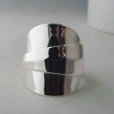 Spoon Ring Sterling Silver Chunky Stunningly Simple Handmade Antique date 1923