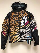 ICON WOMEN Motorcycle Moto SX Merc Shaguar Cheetah Tiger Print Jacket Coat M NEW