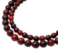 😏 Rotes Horn Kugeln 8 oder 10 mm Perlen Hornperlen Naturperlen Strang 😉