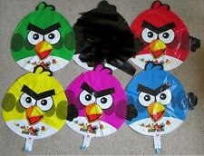 "Set of 5 Angry Birds foil balloons 45cm 18""  5 different colour birds 99p each!!"