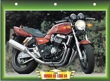 CARTE FICHE TECHNIQUE MOTO  /  HONDA CB 1300 X4 . 1999 .    NEUVE