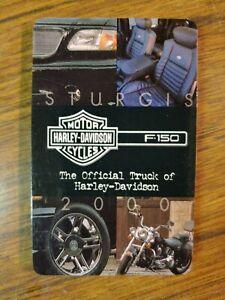 2000 Sturgis Rally Harley-Davidson Ford F150 Folding Brochure New!