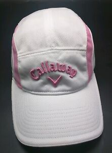 CALLAWAY 5-panel style white / pink lightweight adjustable cap / hat