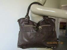 """RIVER"" BEAU SAC EN FAUX CUIR A PORTER MAIN EXCELLENT ÉTAT GRANDE DIMENSION"