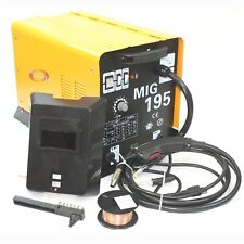 MIG 195 Amp MAG 220v Welder Flux Stainless Aluminum Welding Machine Gas/ No Gas