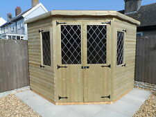 8x8 corner shed/summer house  (pressure treated)