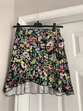 New H&M Size Small Black Frill Pretty Summer Skirt