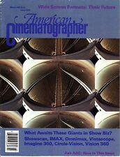 American Cinematographer March 1990 IMAX Omnimax Vistascope Circle-Vision