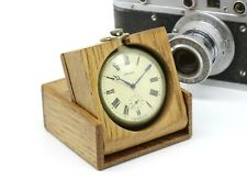 Custom wooden Box 50mm Retro For Molnija and other pocket watch Handmade WD