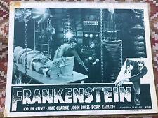 VINTAGE MOVIE LOBBY CARD FRANKENSTEIN 1947 ORIGINAL BORIS KARLOFF HORROR MONSTER