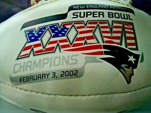FOOTBALL New England Patriots SUPER BOWL Champions ONE PRO MOLD SQUARE W2002 NFL