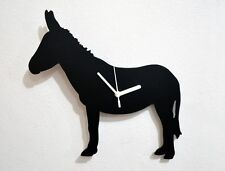 Donkey Silhouette - Wall Clock