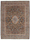 Fine Floral Oriental Rug, 6'x8', Blue, Hand-Knotted Wool Pile