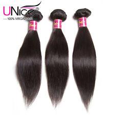 "UNice 3 Bundles 8A Malaysian Straight Virgin Hair 300g 10"" Human Hair Extensions"