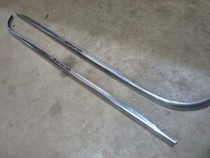 1956 Ford 4 door wagon exterior rear side window lower trim molding pieces