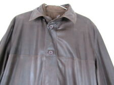 MENS 48 NWT Calzaiuoli Leather Jacket Foce Linea Pelle Reversible Made in Italy