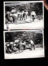 3 Car Accident Photos- Injuries and Stretcher, Police (5x7)- Car Totaled