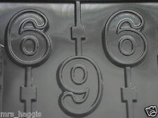 NO 6 NUMBER SIX CHOCOLATE LOLLIPOP LOLLY MOULD MOLD 3 ON 1