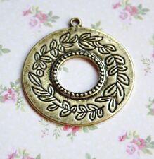 Antique gold round pendentif - 4 pcs