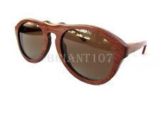 NWOT exotic woods Unisex Sunglasses Mahogany wood Brown $90 - imperfect lens