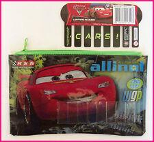 DISNEY CARS - Small PENCIL CASE (Name Insert) 14 x 22cm - Lightning McQueen NEW