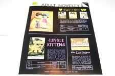 Vintage WARREN PAPER PRODUCTS - NOVELTY PUZZLES ad sheet #0225