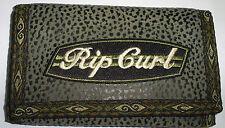 Vintage gray Rip Curl surf street skateboard pvc sponge leather trifold wallet