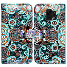 Bcov Paisley Mandala Flower Leather Wallet Case Cover For Samsung Galaxy S9