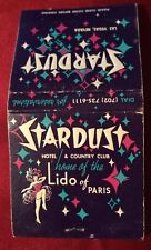 vintage las vegas Stardust Hotel & Casino matchbook No Reserve c. 1950's
