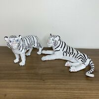 Two Rare Vintage Siegfried and Roy White Tiger Figurines Mirage Las Vegas
