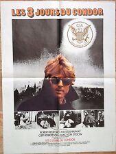 Affiche cinéma originale Les 3 jours du Condor  format 60 x 80 Robert Redford