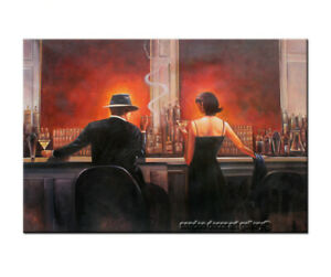Wall Canvas HandPainted Oil Painting Cigar Bar Men and Women Pop Art Home Decor