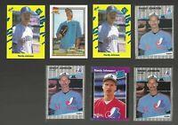 RANDY JOHNSON Rookie Mariners Arizona HOF Lot 7 vtg Baseball Cards 1989 FINE Cnd