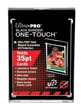 25 Ultra Pro ONE TOUCH MAGNETIC 35PT BLACK BORDER UV Card Holder Display Case