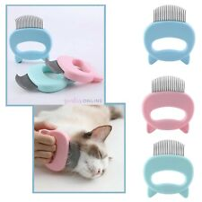 Pet Cat Grooming Massage Brush Shell Handle Tool For Loose Hair Removal