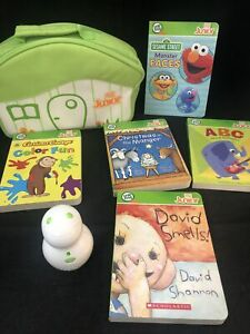 LEAP FROG TAG JUNIOR LOT * BOOKS * READER * CARRYING CASE *