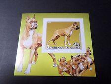 GUINEE 1985, BLOC timbre aérien 187 NON DENTELE', CHIEN BOXER, neuf**, MNH, DOG