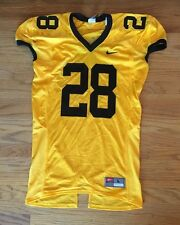 New Nike Men's L Custom Defender #28 Football Cap Sleeve Jersey Mesh Yellow $70