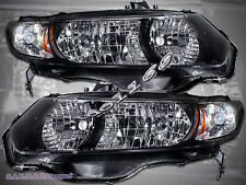 06-11 Honda Civic 2Dr Coupe Black Housing Headlights 2006-2011