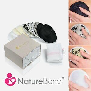 NatureBond Lace Style Bamboo Cotton Reusable Nursing Pads — Washable Breast Bra