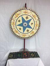 Vintage Antique NJ Boardwalk Carnival Fair Cigarette Wheel Chance Rare Unique