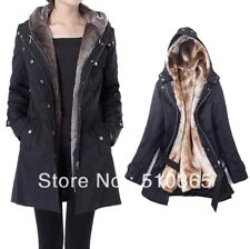 Winter Faux Fur Women Coat  . Black S/M