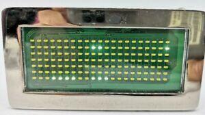 Women Men Metal WHITE LED Belt buckle Light-Up Programmable Message Battery US